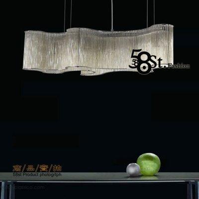 【58街燈飾-台中館】「Glass deformed 琥珀色玻璃管 變形吊燈」美術燈。複刻版。GH-525