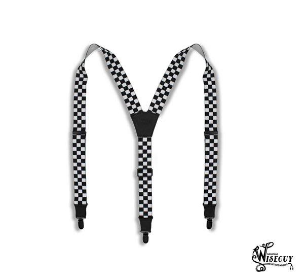 GOODFORIT / 美國 Wiseguy Suspenders The Formula賽道格紋吊帶