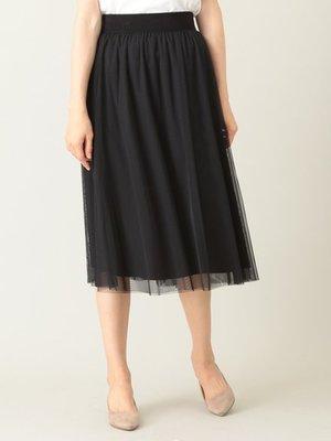 購於日本 鬆緊薄紗透膚紗裙 黑&綠 2色 Green Parks日幣3990+稅 KWD 1