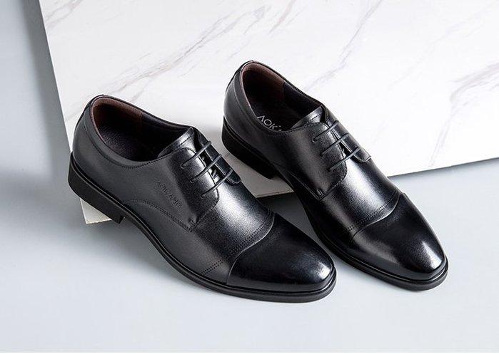 奧康旗艦店官方商務正裝增高皮鞋 春秋英倫男鞋潮流百搭真皮鞋子