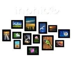 INPHIC-實木相框照片牆組合相片牆創意歐式家居客廳相框牆