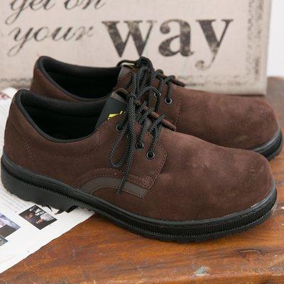 Ovan Soletec 106505 男款 寬楦鋼頭 柔軟反毛皮 MIT專業手工 鋼頭鞋 安全鞋 工作鞋 咖啡色