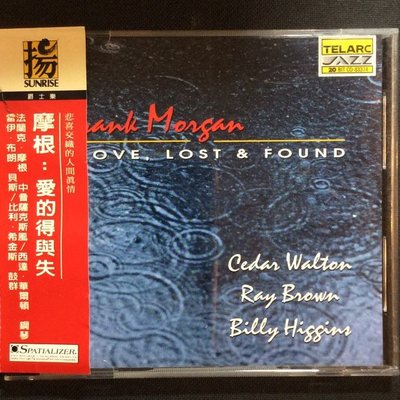 爵士名盤/Frank Morgan法蘭克.摩根-愛的得與失 雷伊.布朗/貝斯 1995年舊版美國版