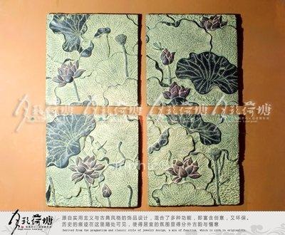 INPHIC-工藝品 仿古壁掛 臥室餐廳掛畫 裝飾畫 壁飾荷舞掛件4片套