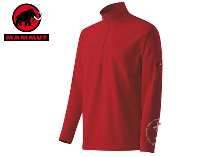 丹大戶外用品【MAMMUT】瑞士長毛象Yukon Trim Men 男款休閒保暖套衫1040-00120-3225 紅