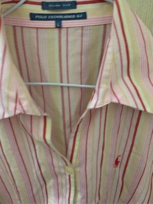 Polo ESTABLI SHED女襯衫尺寸L肩15胸18長23袖26(櫃床白683袋)