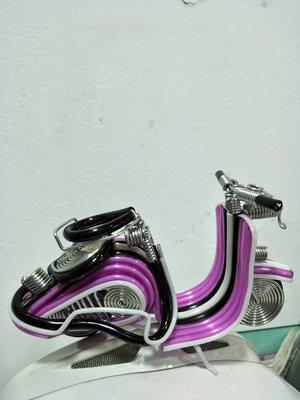 宋家苦茶油Biycycle.4真正鐵製束克達.紫色機車重量68公克.擺在櫥窗搭配好看.增加櫥窗氣質.擺在辦公桌上有氣氛.