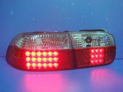 小亞車燈╠ 發燒限量特價喜美K6-4D/2D/3D紅白晶鑽LED尾燈