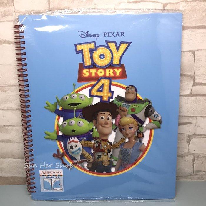 【現貨】日本 迪士尼 TOY STORY 4 玩具總動員 A4資料收納冊(藍色)