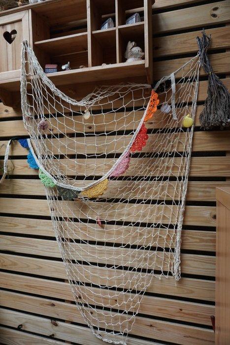 {{地中海風}}漁網/拍攝道具/壁掛裝飾/派對裝飾 (帶貝殼款)