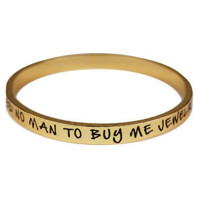 Ettika 美國純手工文字手環 Need No Man To Buy Me Jewelry 金色手環 絕版出清