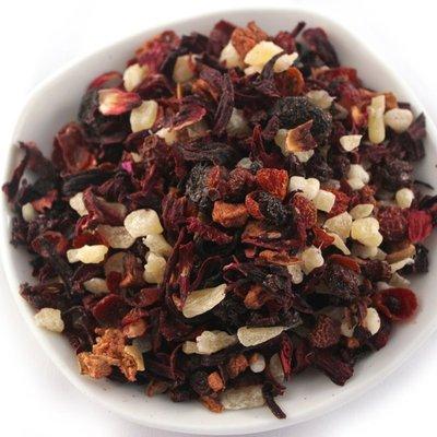 草莓果粒茶 草莓水果茶 歐洲果粒茶 果乾茶 下午茶 300公克 另有茶包 綜合、藍莓、櫻桃、水蜜桃 【全健健康生活館】