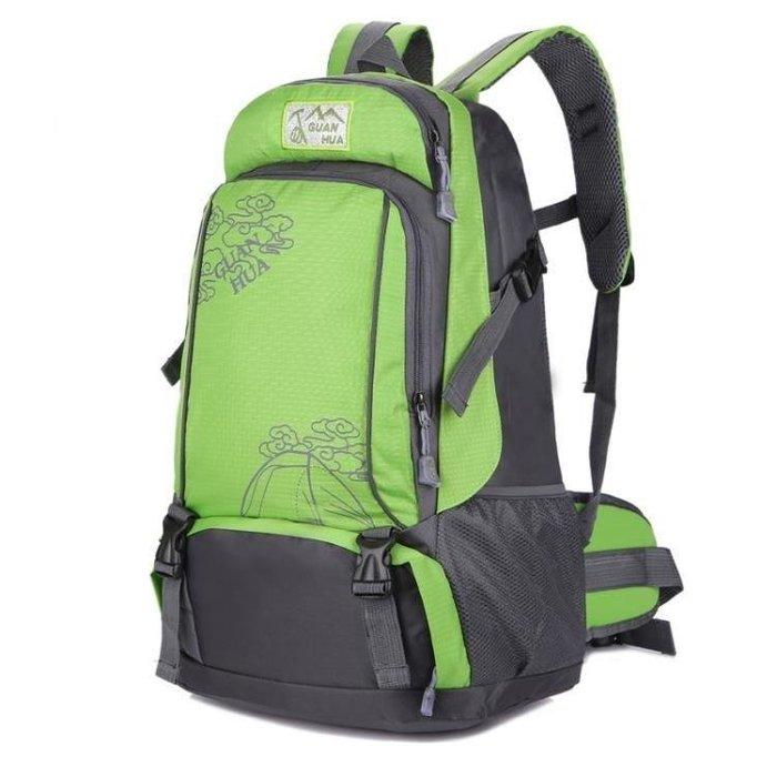 YEAHSHOP 雙肩包男大容量旅行包背包戶外防水休閒電腦書包韓版女旅游登山包Y185