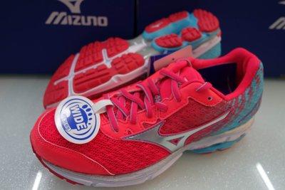 棒壘天地 MIZUNO 美津濃 WAVE RIDER 19  女慢跑鞋 寬楦款 J1GD160608