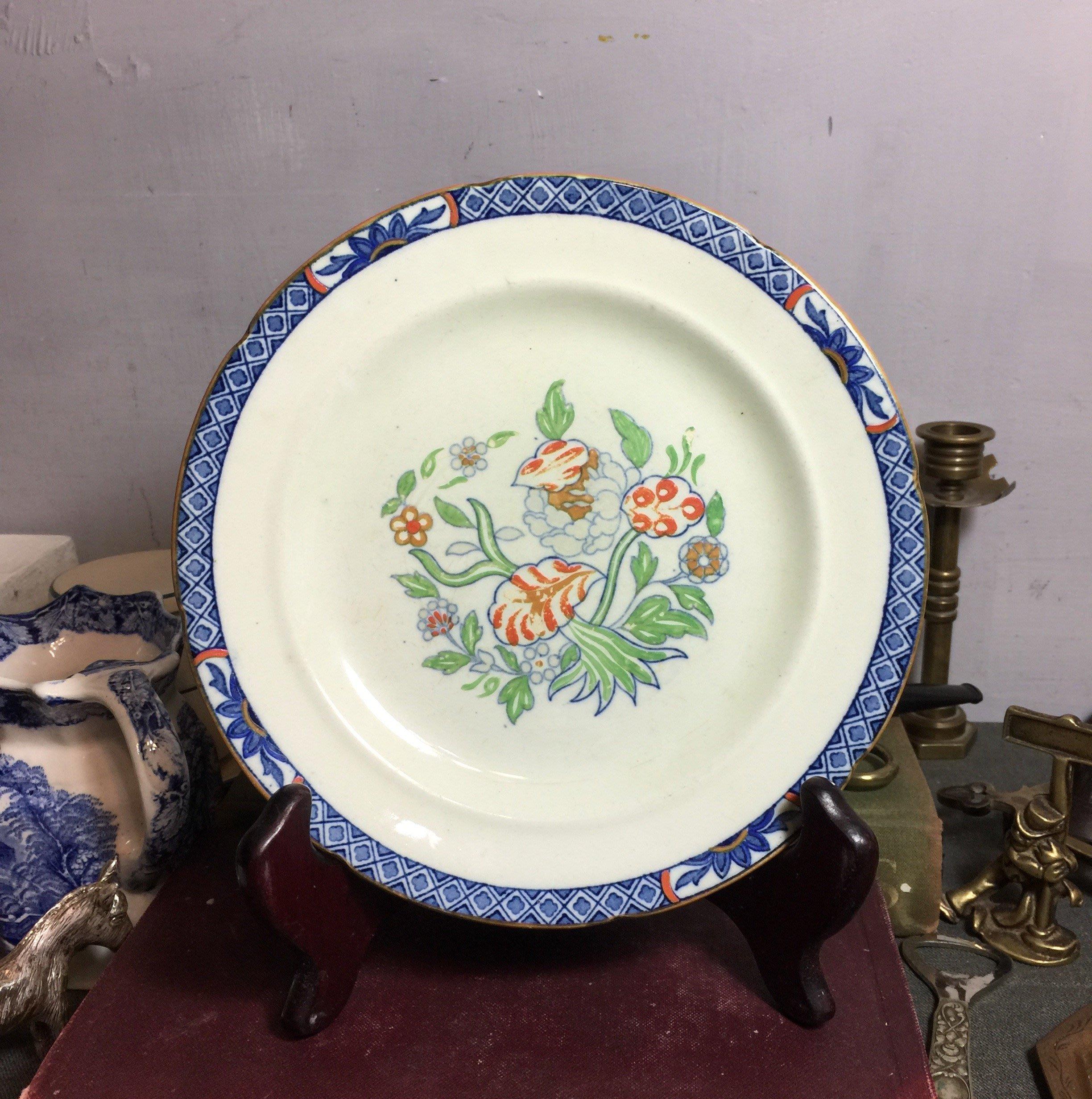 白明月藝術/古物雜貨店  英國老瓷盤