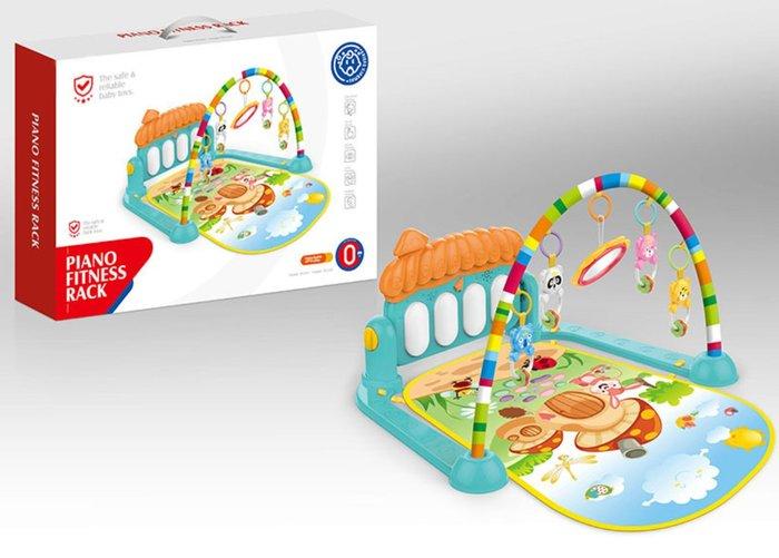 【好孩子福利社】嬰兒早教遊戲毯 腳踏音樂鋼琴 嬰兒健身架 發聲搖鈴玩具