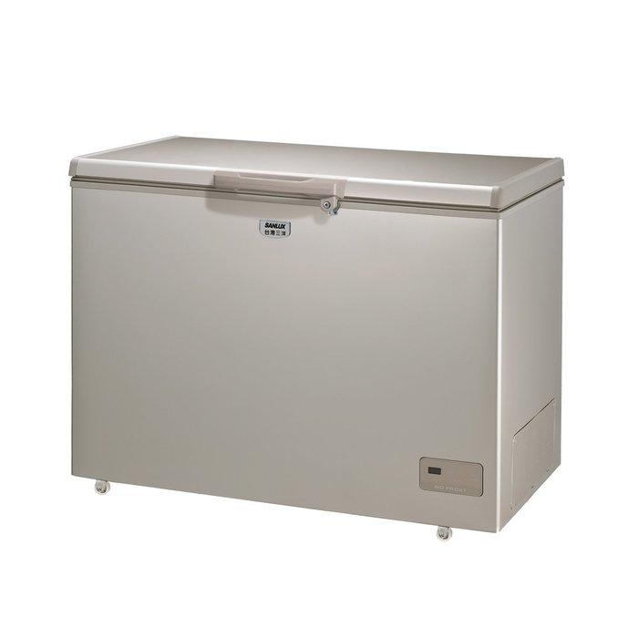 SANLUX 台灣三洋 320L 上掀式 冷凍櫃 風扇式 無霜 SCF-320GF $15000