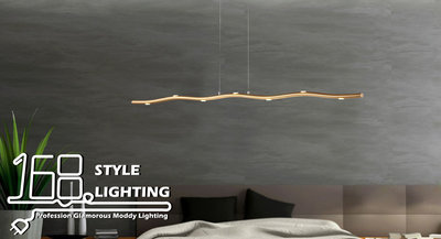 【168 Lighting】柳枝風雅《LED吊燈》(兩色)金色GE 81063-2