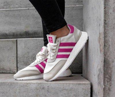 【路克球鞋小天地】愛迪達 Adidas I-5923 櫻花粉 玫瑰粉 白色 麂皮 蛇紋 許路兒 D96618