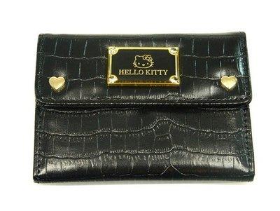 HELLO KITTY凱蒂貓超質感小錢包/信用卡/悠遊卡/黑/信用卡09年最新(含運價)