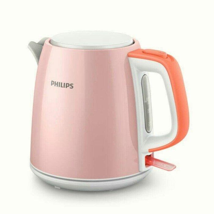 【Philips 飛利浦】1.0L 不鏽鋼煮水壺/瑰蜜粉(HD9348)