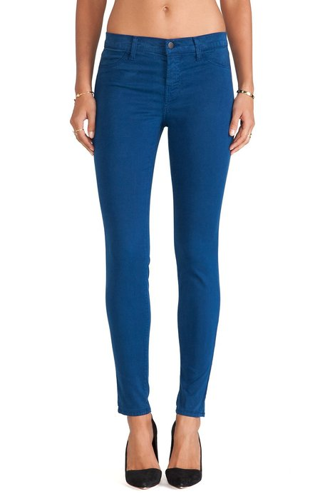 ◎美國代買◎J Brand LUX SATIN PANTin libertine blue復古亮色藍合身款
