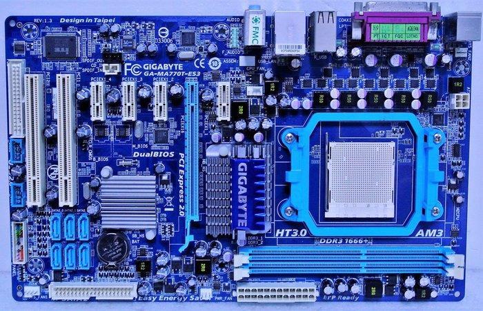 ~ 駿朋電腦 ~ 技嘉 GA-MA770T-ES3 / AM3主機板 / PCI-E / DDR3 $600