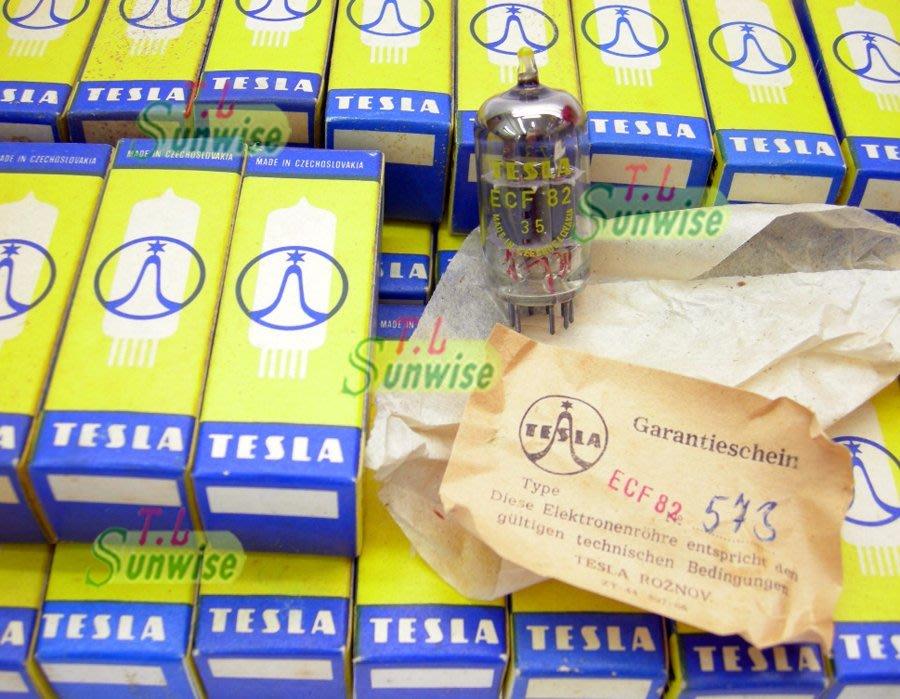 6U8A ︽NO:6808 捷克 TESLA ECF82 ( 6GH8 ; 中國 6F2 升級管 ) 雙支架 附原廠紙盒