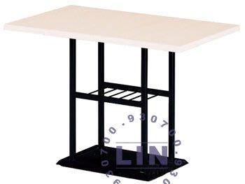 【品特優家具倉儲】R218-01餐桌洽談桌712烤黑腳餐桌3*2尺