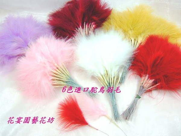 【花宴】*稀有鴕鳥羽毛系列*新品上市~最優等品質共7色~製作手工藝品~胸花等~