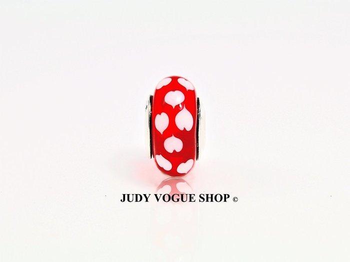 聖誕節 韓國 Murano charms 經典愛心琉璃珠 精品琉璃珠 JUDY VOGUE SHOP【JMB-0003】