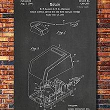 [復古藝術海報] - 1984年 史上第一支滑鼠 Apple 麥金塔 專利設計圖原型|電腦科技  世界經典 [美國授權]