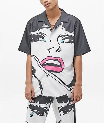 CHINATOWN MARKET CRY SS BUTTON UP