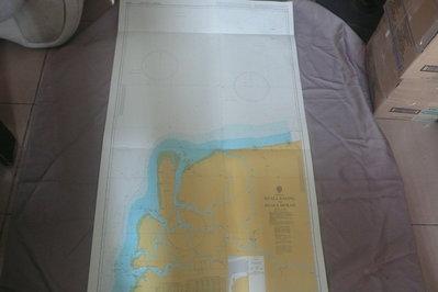 藍色小館46-1-DEPTHS IN METRES航海圖-KUALA RAJANG TO KUALA MUKAH