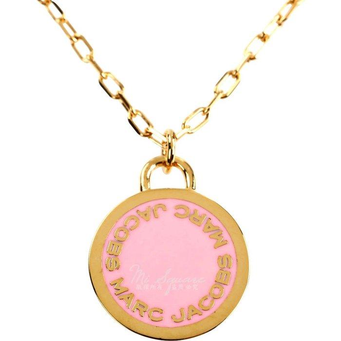 米蘭廣場 MARC JACOBS Logo Disc Pendant 字母琺瑯圓盤長鍊(金x粉) 1820175-05