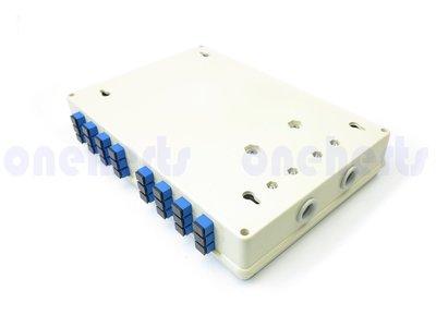高階ABS 24口塑鋼壁掛式光纖終端盒 全配 可以搭配SC FC LC 耦合器及豬尾巴 終端盒 末端盒 光纖盒