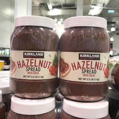 Costco好市多 KIRKLAND 科克蘭 榛果可可醬 1kg x2瓶入  巧克力醬 巧克力抹醬 cocoa chocolate spread