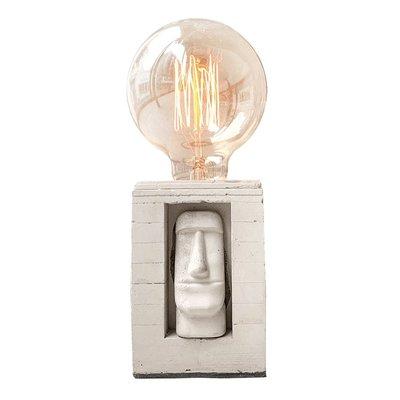 【曙muse】摩艾臉水泥方型燈 個性水泥桌燈 造型檯燈 Loft 工業風 咖啡廳 民宿 餐廳 居家擺設