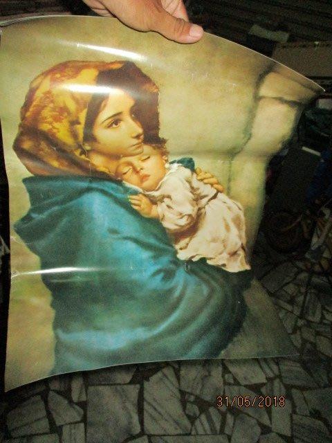 60.70年代..聖母..天主...3張..老印刷..平安..囍樂..懷舊