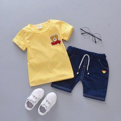 夏季 男寶寶小熊休閒套裝1歲~4歲