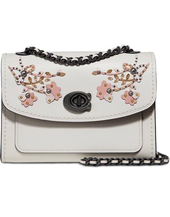 Coco小舖COACH 54622 Floral Embroidered Parker 18 Shoulder Bag