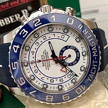 ((美品)) 99%極新 Rolex 116680 藍針 Yacht Master II 新亂碼 Rubber B 全套齊