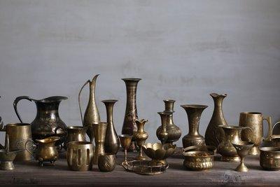 宏美飾品館~C組花器 西洋古董 美食靜物攝影復古舊物黃銅擺件【二店道具鋪】