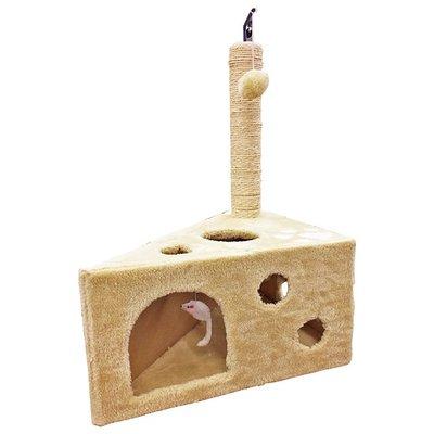 ✪第一便宜✪貓跳台 BCT0007 貓窩 跳台 寵物跳台 貓玩具 絨毛米白款