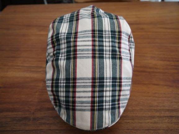 貴族風格子狩獵帽(卡其色)