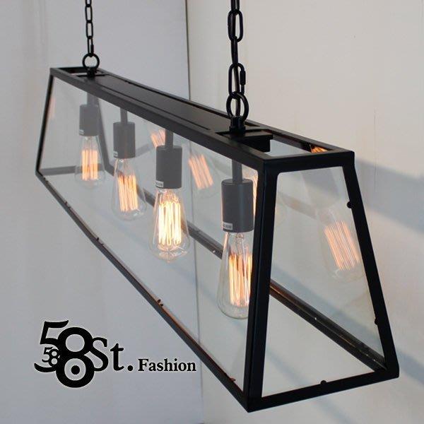 【58街】設計師款式「Teng 2代餐吊燈_黑色、古銅色_大款」複刻版。GH-361