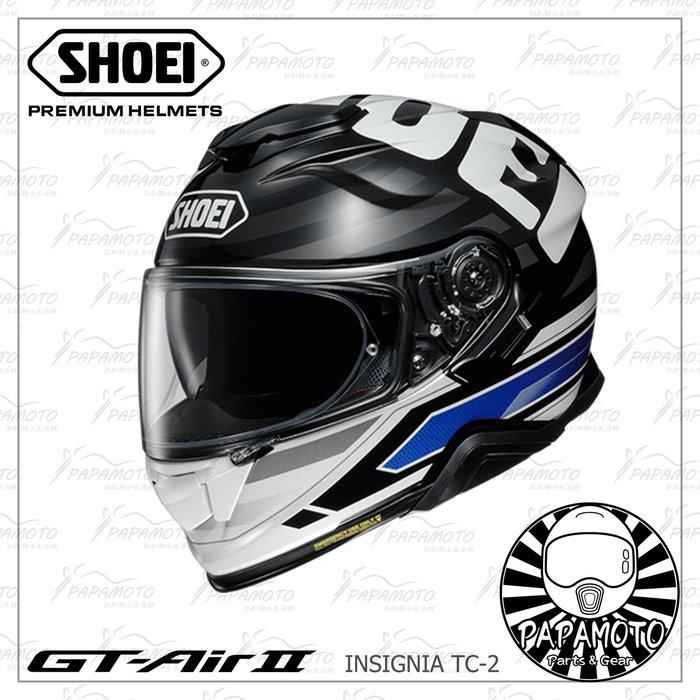 【趴趴騎士】SHOEI GT-AIR II INSIGNIA TC-2 (全罩安全帽 內墨片 GT AIR 2