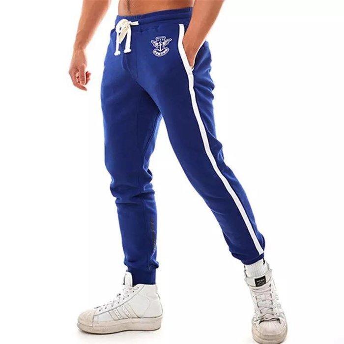 【OTOKO Men's Boutique】Hansbenny  海軍運動棉褲/藍色/正版(台灣獨家代理)