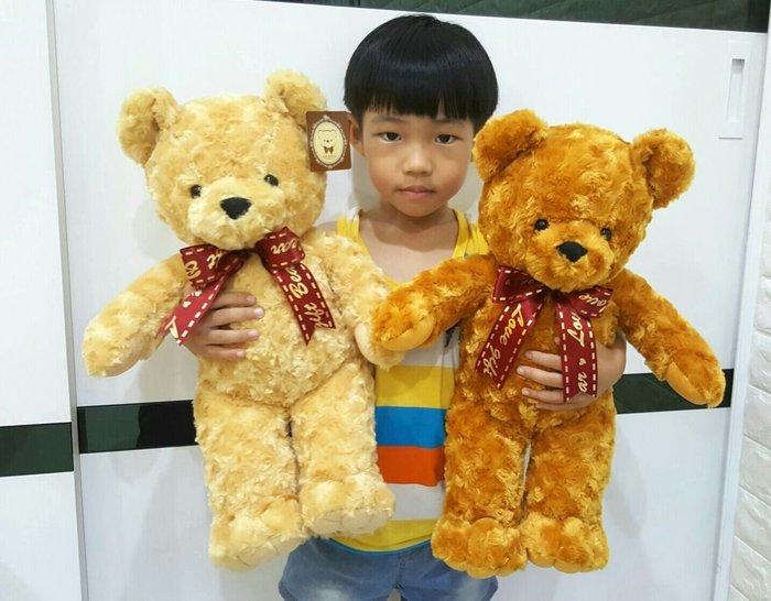 高雄娃娃樂園~可愛玫瑰泰迪熊娃娃~高46公分~泰迪熊~毛質超柔軟~玫瑰熊~生日禮物~聖誕節禮物~高雄可自取