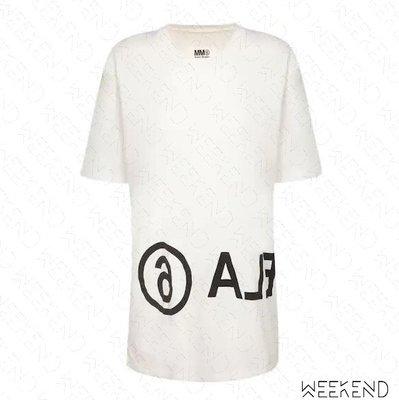 【WEEKEND】 MM6 MAISON MARGIELA Reversed Logo 短袖 上衣 T恤 白色